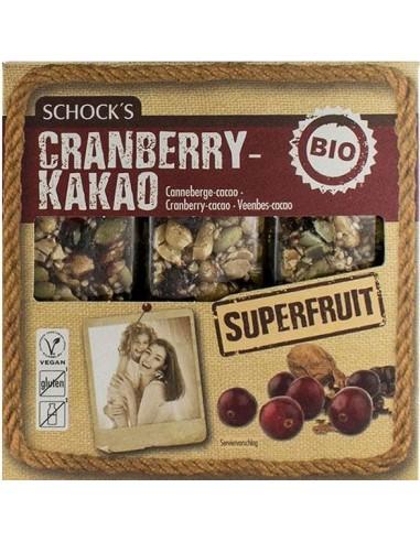 Schock's - Batoane cu merișoare și cacao, 75g (3 x 25g)