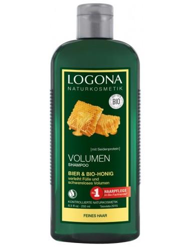 LOGONA – Sampon bio pentru volum cu bere si miere, 250 ml