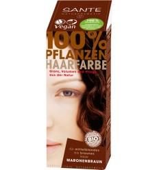 SANTE - Vopsea bio pentru par, din plante, Negru, 100 g