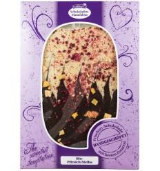 Liebhart`s – Ciocolata artizanalaBIO cu piersici/melba, fara gluten, 150g