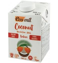 ECOMIL - Bautura vegetala bio de cocos, natur, fara zahar, 500 ml