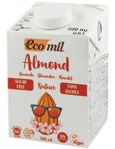 ECOMIL - Bautura bio, natur de migdale, fara zahar, 500 ml