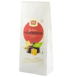 ROSEN GARTEN – Bucati BIO de ghimbir invelite in ciocolata neagra, 80g