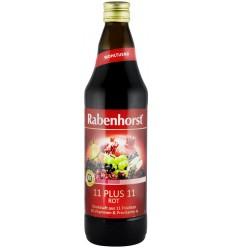 """RABENHORST – """"11 PLUS 11 ROSU"""" SUC DE FRUCTE, 0.7L"""