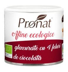 Afine roşii Bio glazurate în 4 feluri de ciocolată