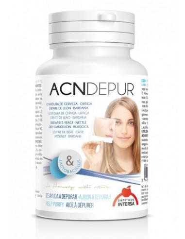 Dieteticos INTERSA – ACNDEPUR, pentru depurificarea fetei (Antiacneic) - 60 capsule