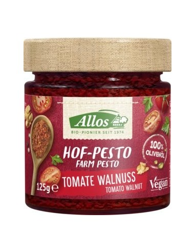 Allos – Pesto BIO de tomate si nuci, 125 g