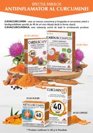 Brosura Carduscaps, Carduscomplex, Articurcumin, Curcumin 360