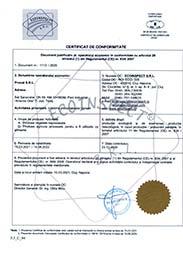 Certificat de conformitate si Anexa - Pronat 2020